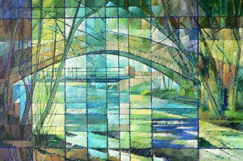The Lovers Tale, Beggars Bridge Glaisdale. Acrylic
