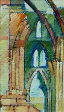 Rievaulx Ruin. Acrylic
