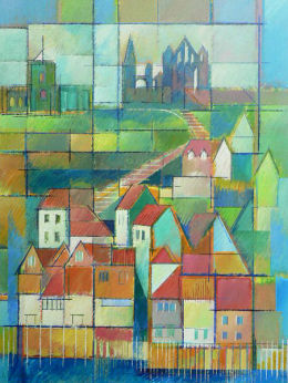 Stepping Up, Whitby. Acrylic