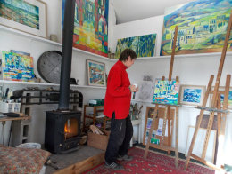 Anne in her studio