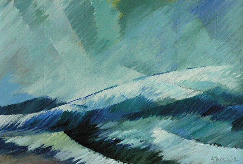 The Leaping Wave. Acrylic