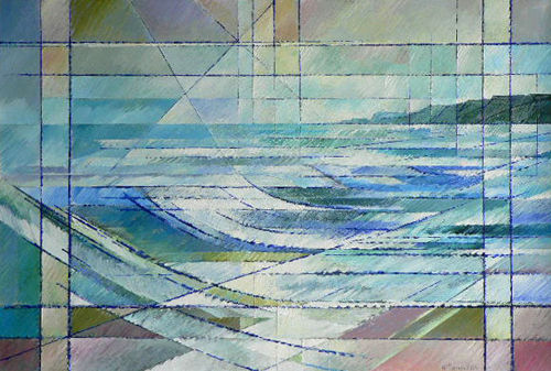 The Pull of the Tides. Acrylic