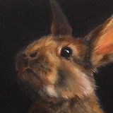 """""""Did you call my name?"""" 12 x 12 ins Oil"""