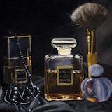 Perfume bottles: Oil on canvas board