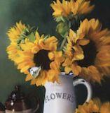 Sunflowers & Butterflies: 20 x 24 ins Oil on canvas
