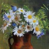 Wild Flowers & Butterflies: 20 x 24 ins Oil on canvas