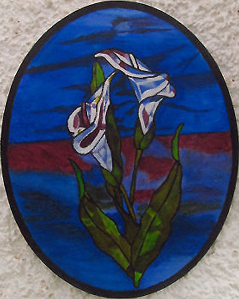 calla lily, oil on board, 20cm x 25cm