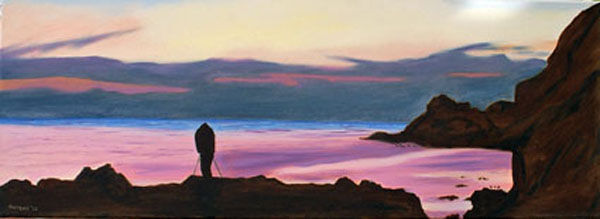capture the moment, oil on canvas, 30cm x 80cm