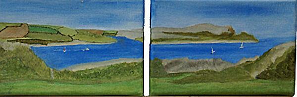 diptych, oil on canvas, 12cm x 18cm each