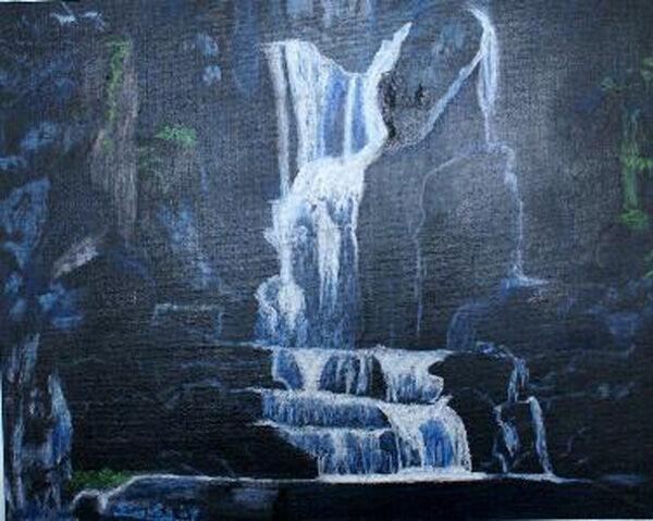 dream fulfill, oil pastel on board, 40cm x 50cm