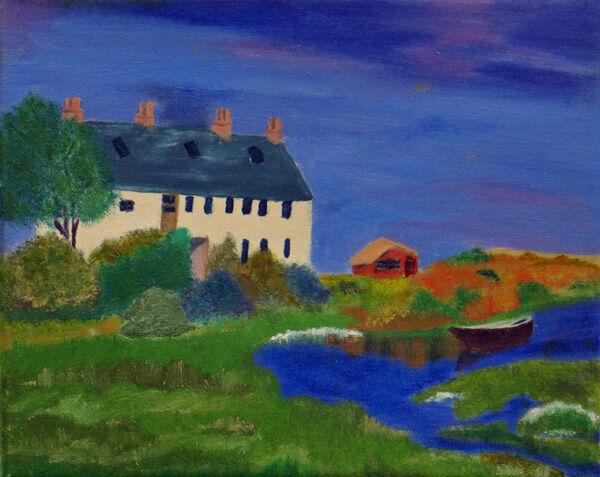 haven, oil on canvas, 18cm x 24cm