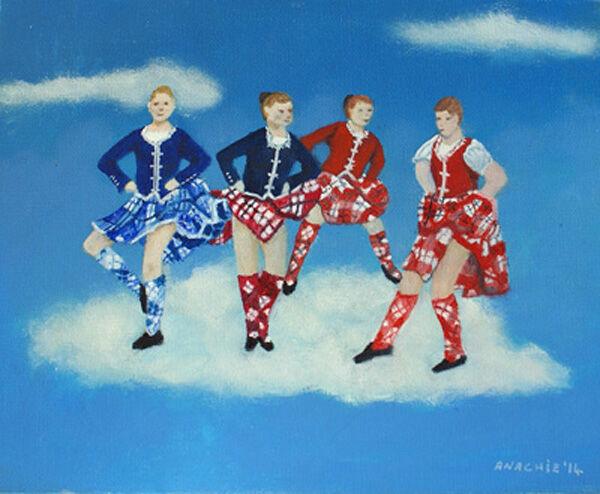 heavenly dancers, 20cm x 25cm