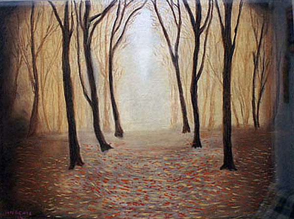 into the light, hard pastel, 32cm x 40cm