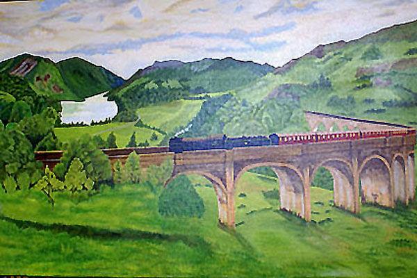 mallaig, oil on canvas, 67cm x 101cm