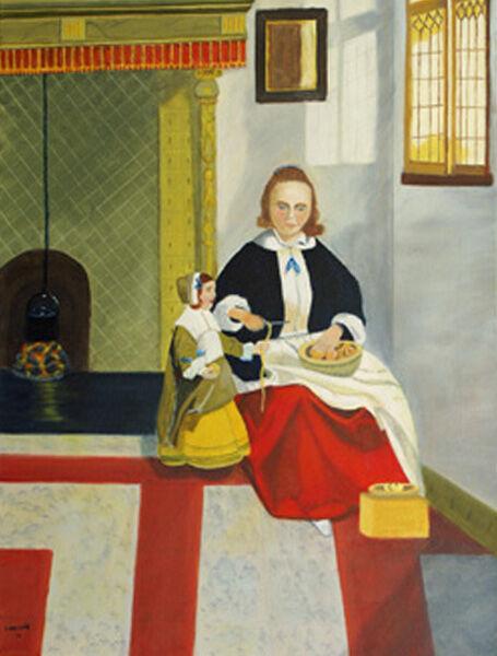 master copy, oil on canvas, 46cm x 61cm