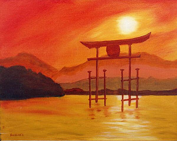 oriental nights, oil on board, 40cm x 50cm