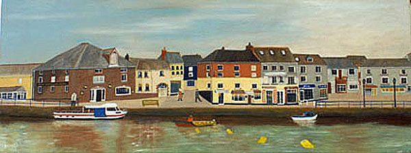 padstow, oil on canvas, 30cm x 80cm