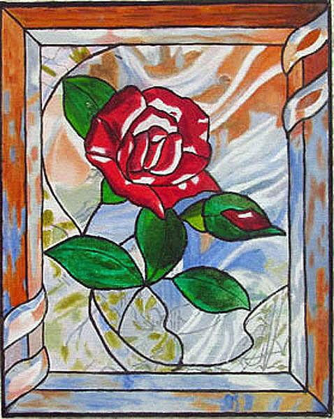 rose, oil on board, 20cm x 25cm