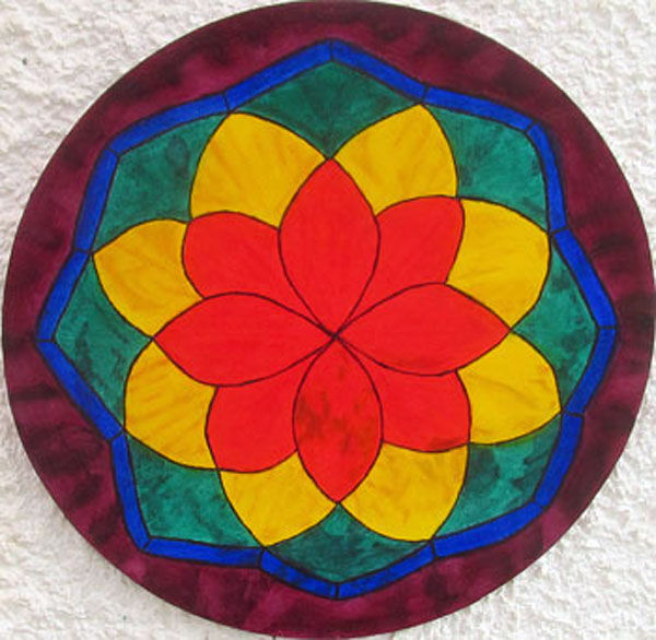 rose window, oil on board, 30cm x 30cm