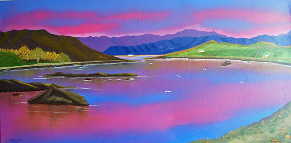 tranqility, oil on canvas, 51cm x 101cm