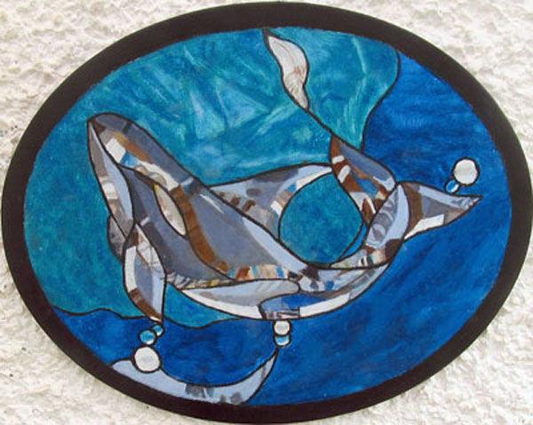 whale, oil on board, 20cm x 25cm