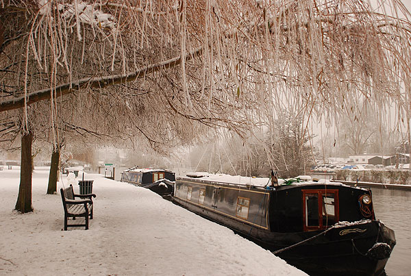 Winter Barge