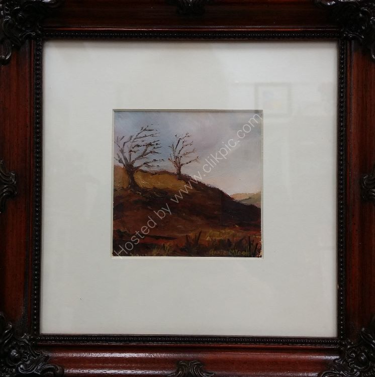 OUT IN THE WIND [framed 10x10in] £100