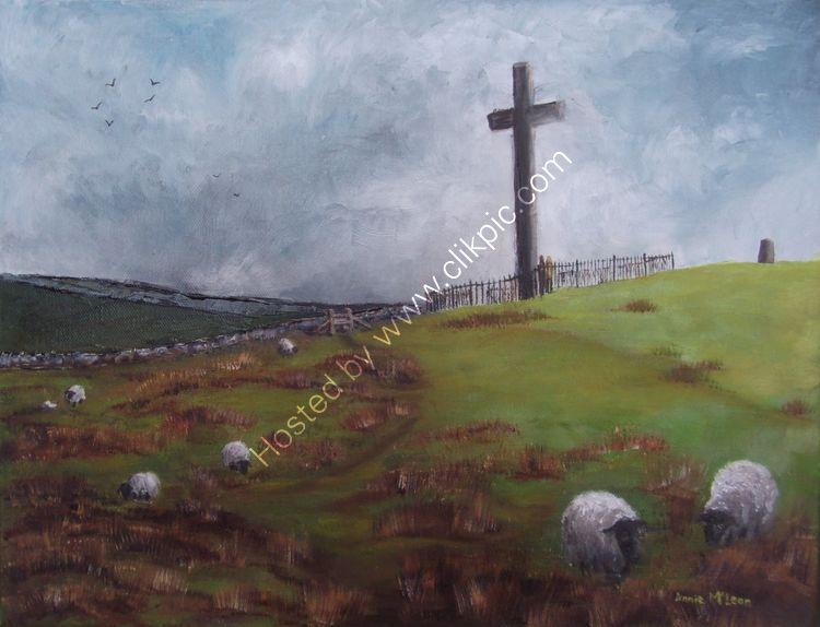 CORBAR CROSS an original oil painting by Annie McLean