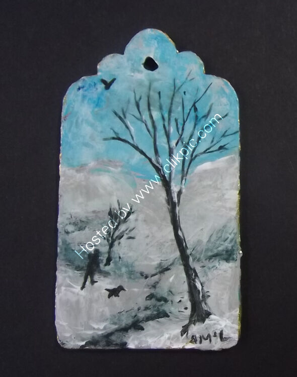 A WALK IN THE SNOW - Gift Tag 4x7cm