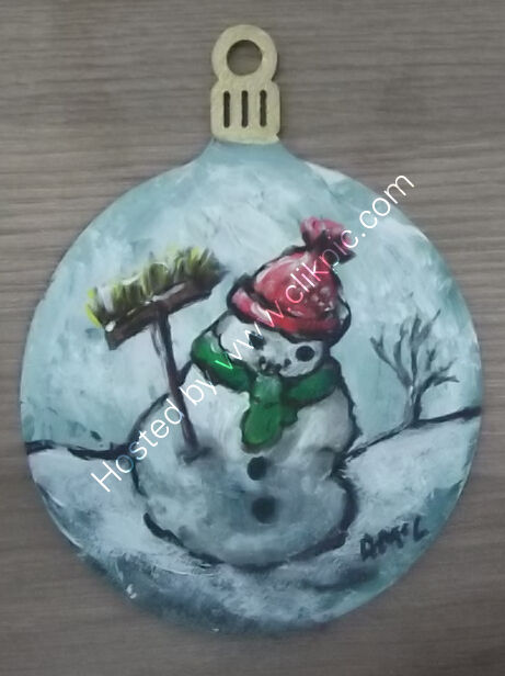 Snowman Bauble 7x9cm - single