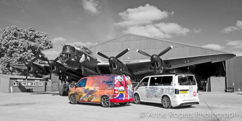 The Battle Buses with Avro Lancaster NX611 Just Jane