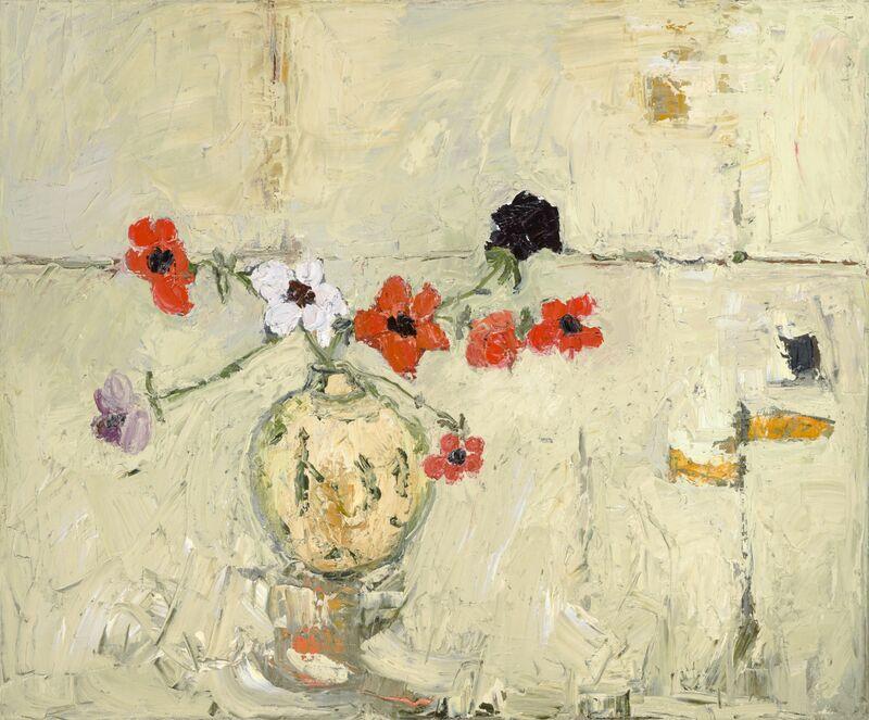 Anemones oil on canvas 50x60cms +frame