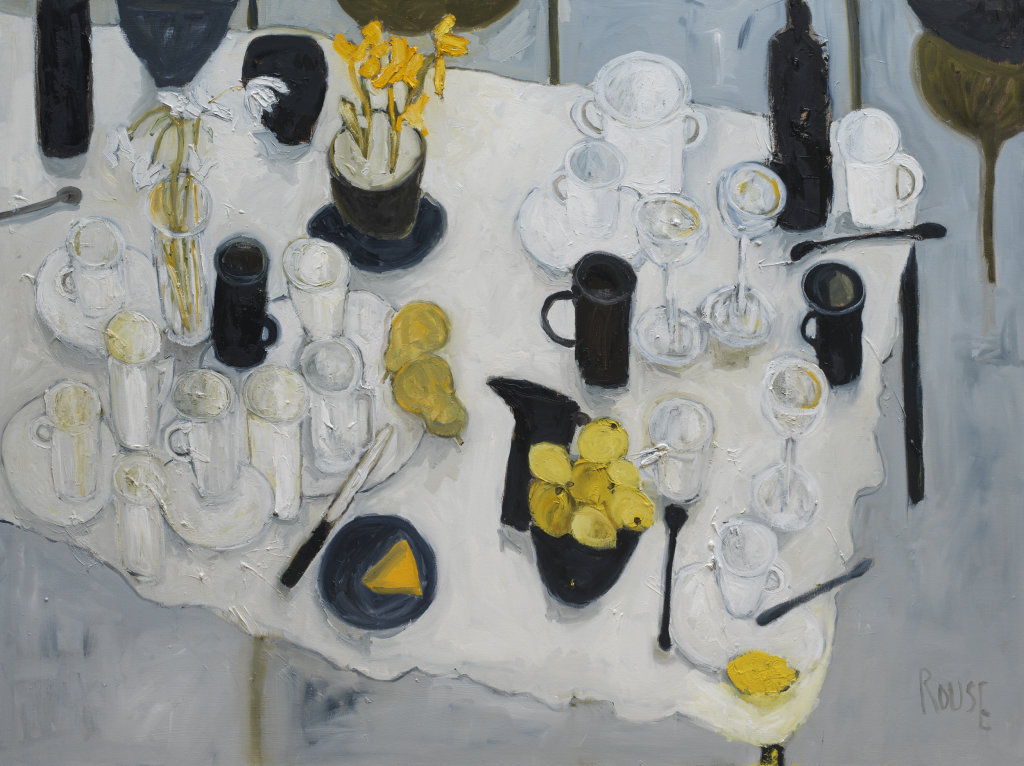 Table with Lemons<br>Oil on Canvas, Framed, 91x120cm<br>SOLD