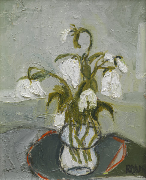 White Flowers in Tumbler Sold