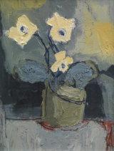 White Flower, Grey Pot SOLD