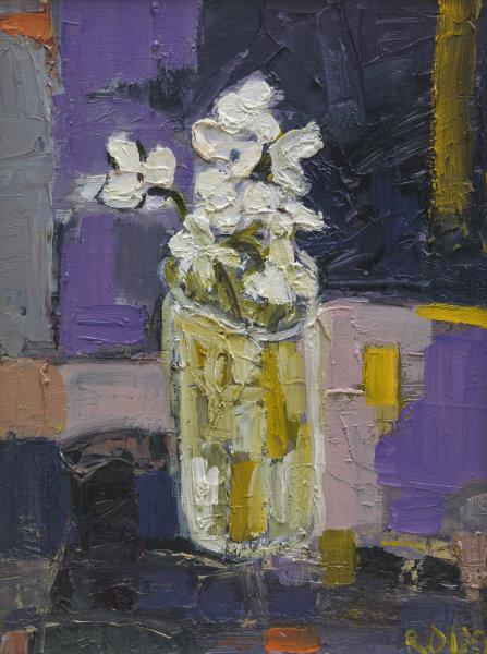 Little White Flowers in Vase SOLD