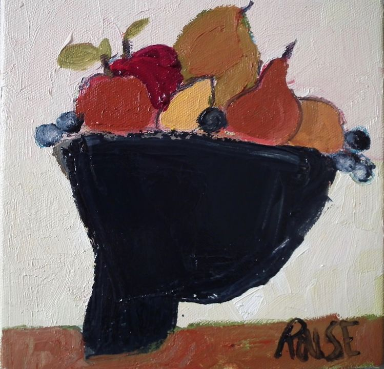 Bowl of oil on canvas 20x20cms framed