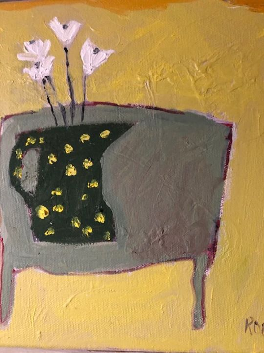 Black Jug with yellow Spots (sold)