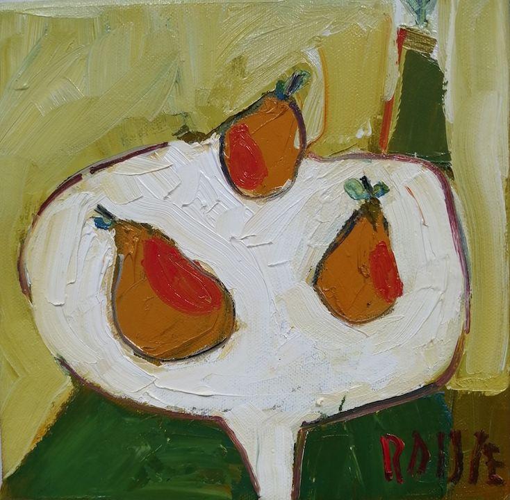 Three Pears on Dish