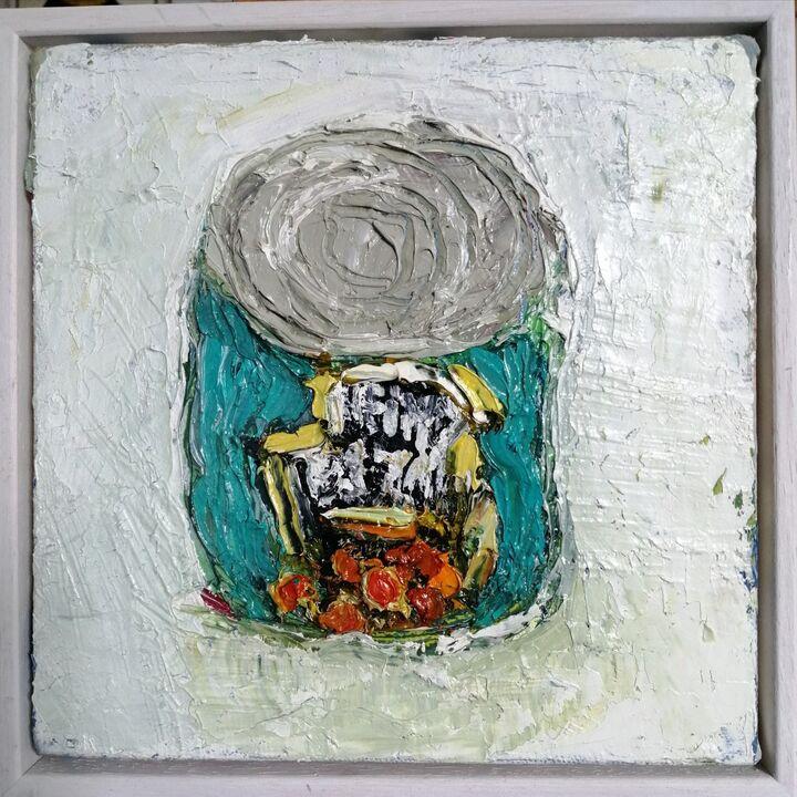 Baked Beans 20x20 oil on canvas framed SOLD