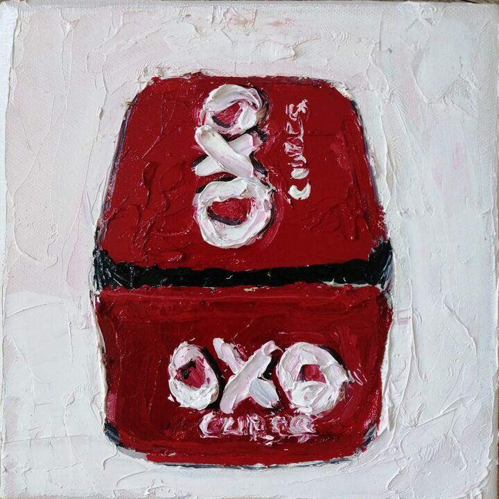 OXO 20x2ocms oil on canvas framed