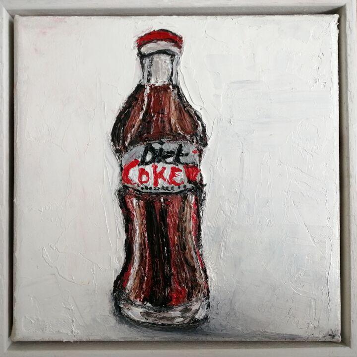 Diet Coke oil on canvas 20x20cms framed (sold)