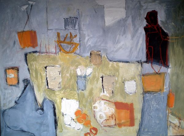 Interior with Table 48x36ins oil on canvas (sold)