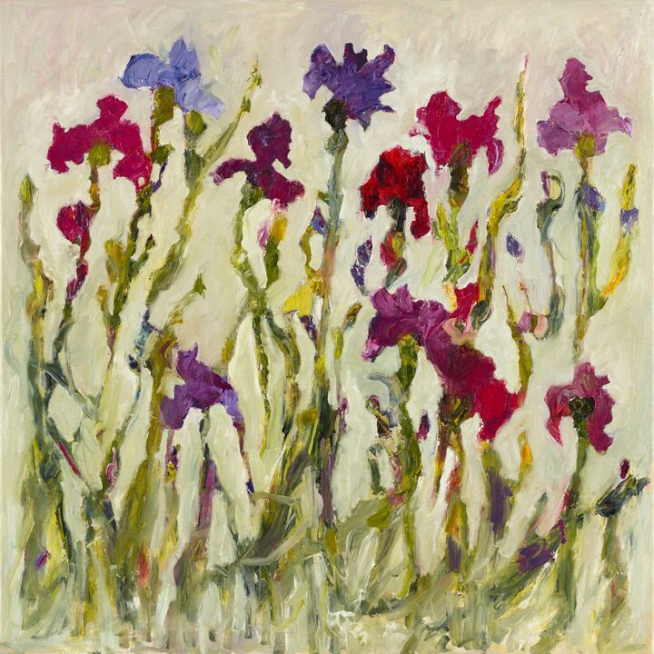 Iris 2 (sold) oil on canvas 100x100 cms +frame