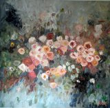 Rosa Bourbon oil 120x110 cms Sold