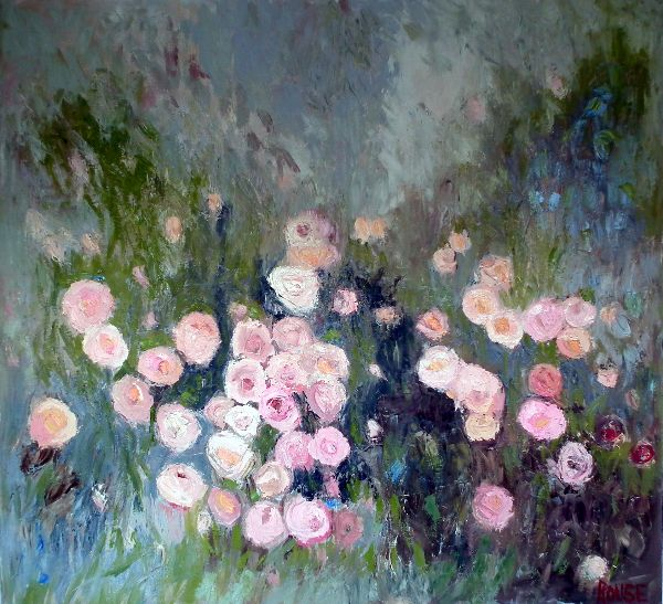 Rosa Damask<br>Oil on Canvas, 110x120cm<br>SOLD