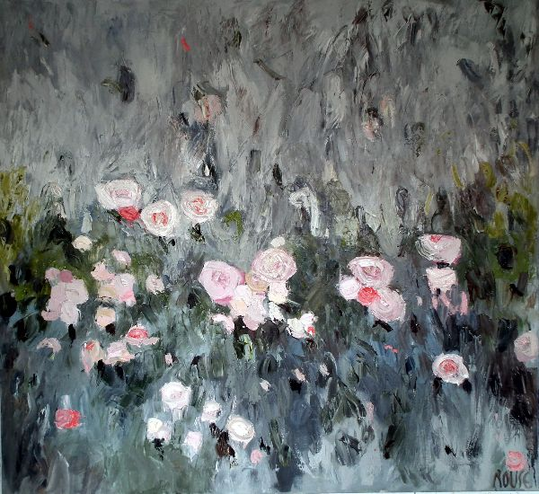 Rosa Gallica<br>Oil on Canvas, 110x120cm<br>SOLD