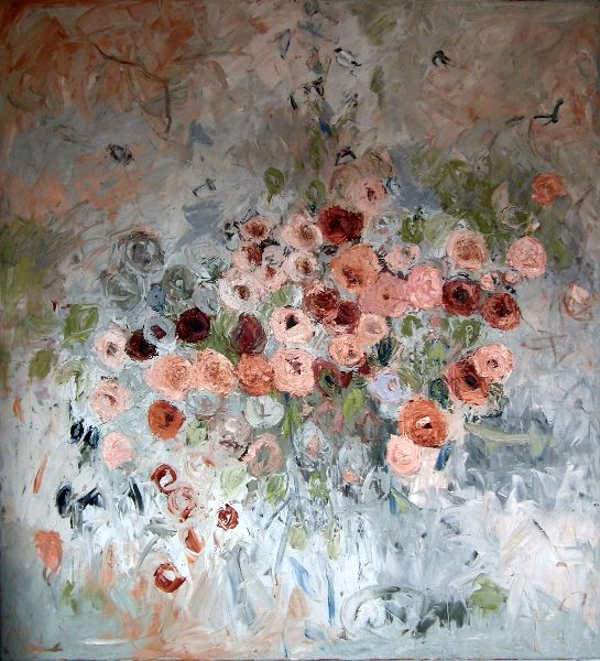 Rosa Mimosa<br>Oil on Canvas, 110x120cm<br>SOLD