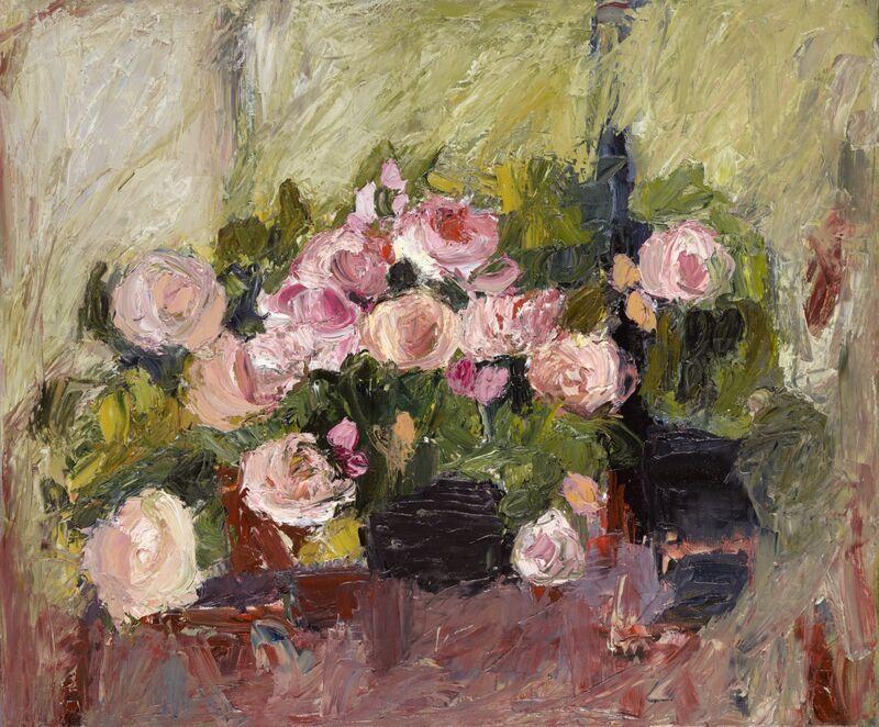 Rose Bowl oil on canvas 50x60cms+frame