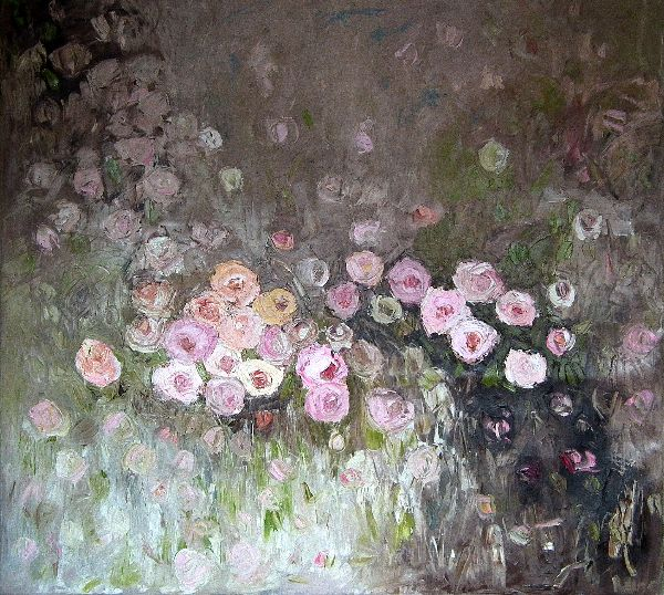 Rose Des Quatre Saisons<br>Oil on Canvas, 110x120cm<br>SOLD